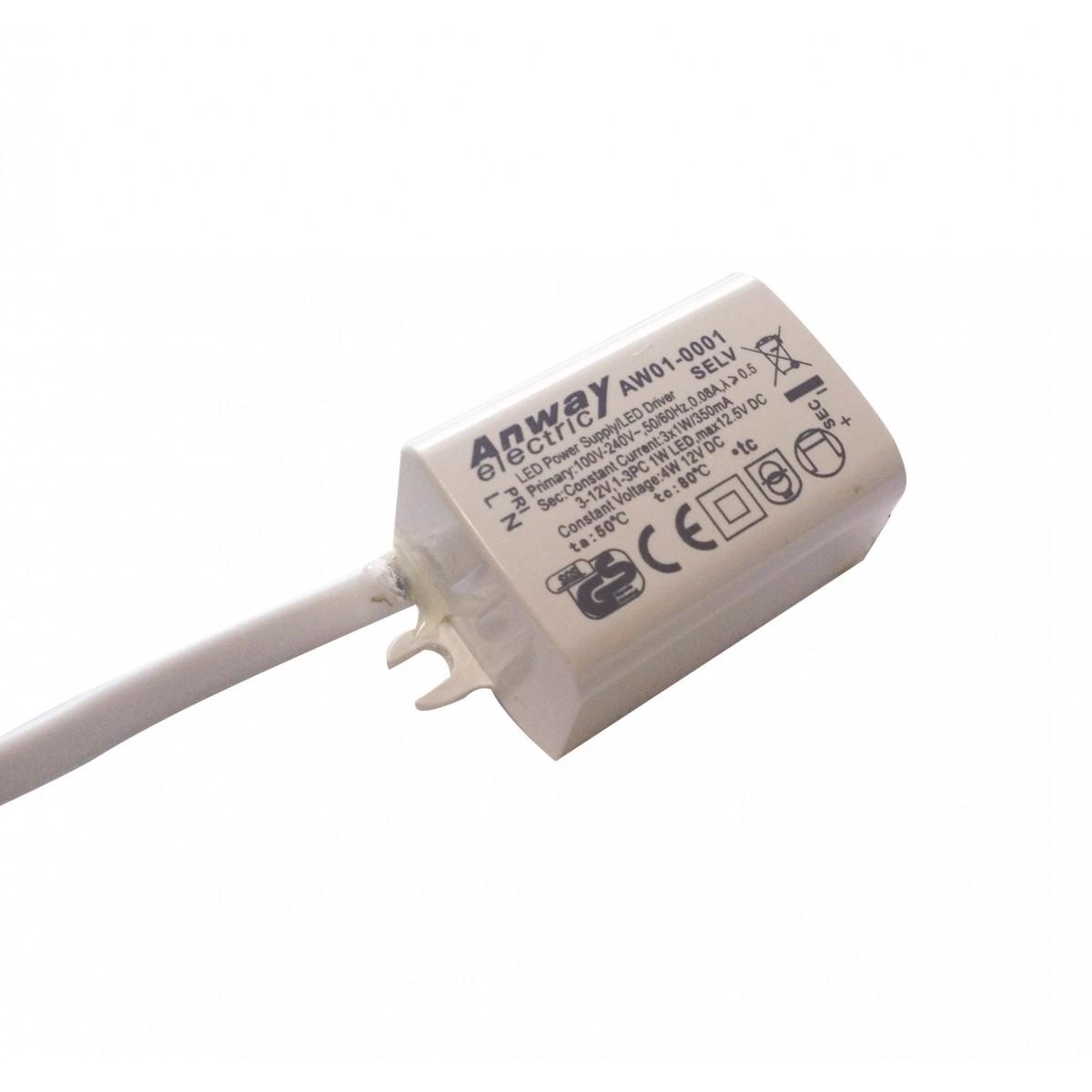 I-DRIVER/3W-IP67 - Alimentatore Driver Corrente Costante Impermeabile 3 watt