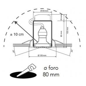 Kit 3 Faretti Metallo Oro Orientabili...