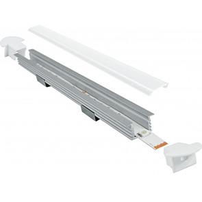 Profil 1 m pour Strip Led avec capuchons 1,6x1,187 cm