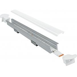 I-PROFILO-BERLINO - Profil 1 m pour bande LED avec capuchons 1,6x1,187 cm