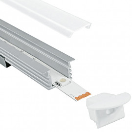 Profil Berlin pour bande LED blanche 1 m FanEurope