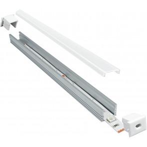 Profil 1 m pour Strip Led avec capuchons de 1,32x1,2 cm