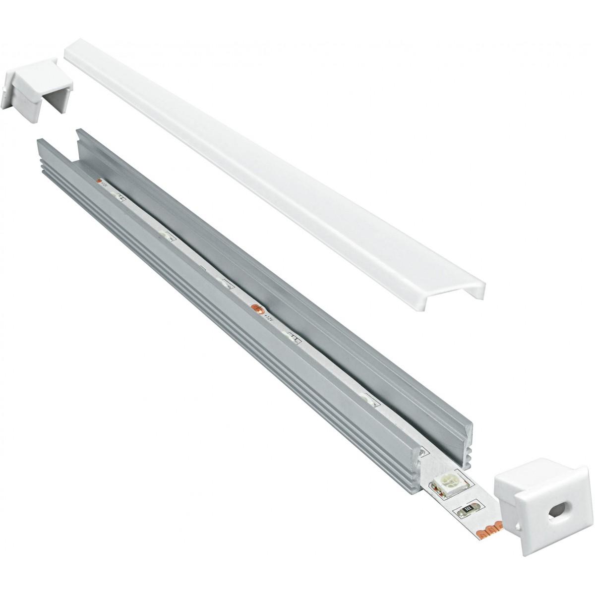 I-PROFILO-ROMA - Profilo 1 m per Strip Led con Tappi 1,32x1,2 cm