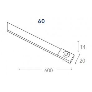 LEDBAR-60CM-C Faretto  Bianco Led A+...