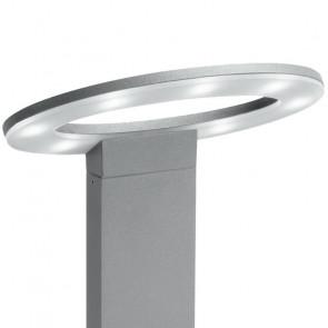 Lampione luce per giardino 60 cm silver