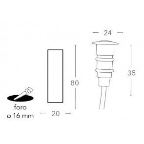 LED-BARRET-R24 Walkable Nickel Led A...