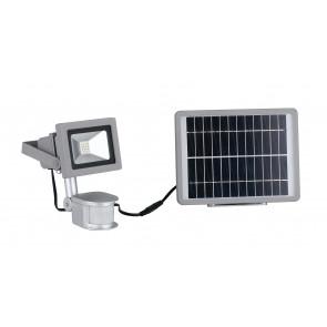 Proiettore led con pannello solare