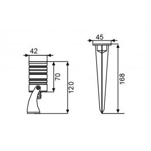 LED-IRIDE-3P - Faretto in alluminio...