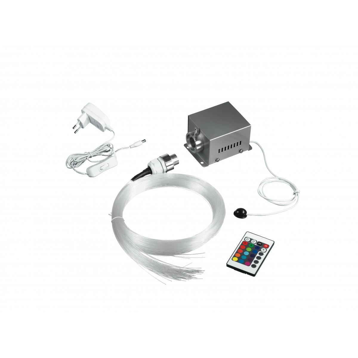 FIBRAOTTICA-LED-RGB - Kit Fibraottica con Telecomando Controller Led 9 watt RGB
