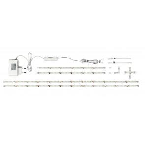 STRIP-3528-KIT - Kit de quatre bandes led avec accessoires de 1,3 m