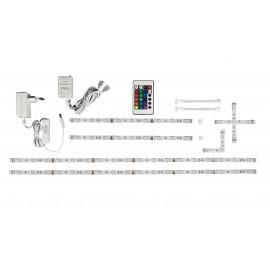kit avec quatre bandes LED RVB avec