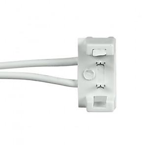 Connettore a due clip bianco per...