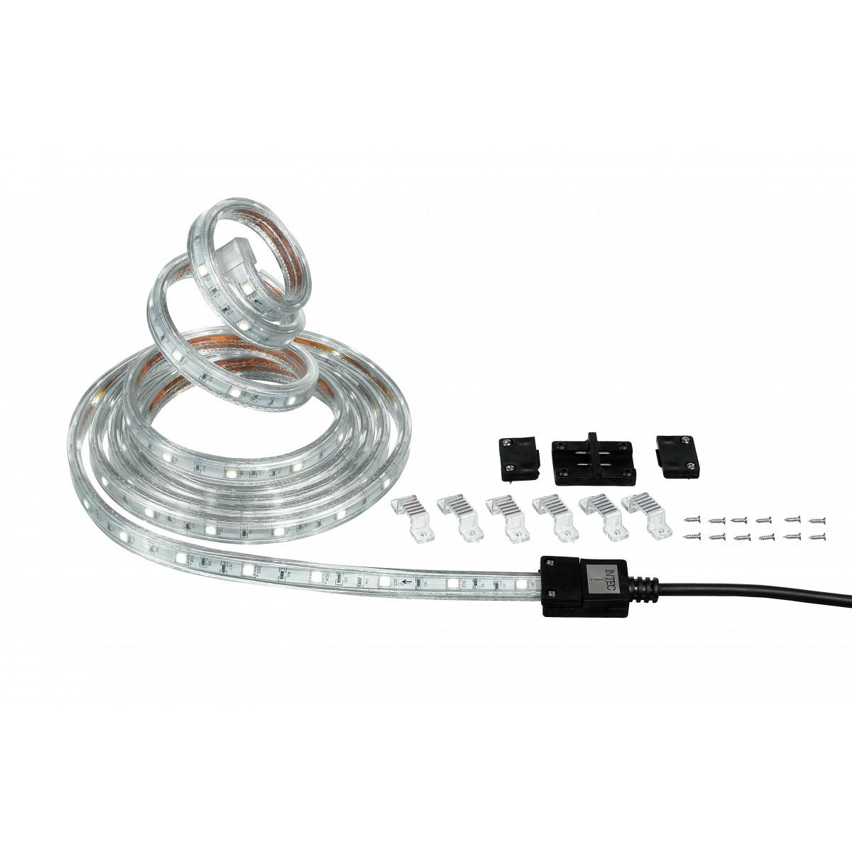 Bande LED de 300 cm avec six supports et