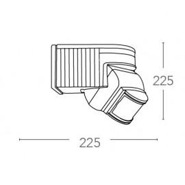 Sensore di Movimento 22,5x22,5 cm con Raggio di 180° Distanza Max 112 m e Watt 1000 FanEurope