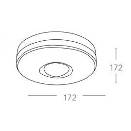 Capteur de mouvement rond 17,2 cm blanc avec rayon de 360 ° Distance maximale 5 m et ventilateur 1600 watts Europe