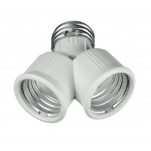 Adattatore - E27-2E27 - Riduttore per lampade da E27 a 2E27