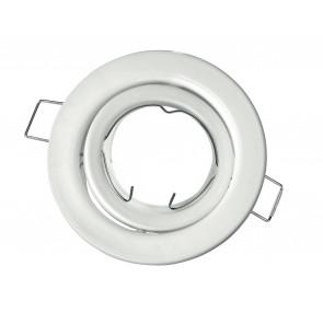 INC-REFLEX-SM1 BCO - Ghiera Tonda Orientabile Alluminio Bianco per Faretto a Incasso