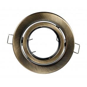 INC-REFLEX-SM1 BR - Ghiera Tonda Orientabile Alluminio Bronzo per Faretto a Incasso