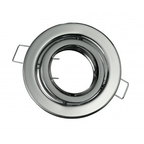 INC-REFLEX-SM1 CR - Ghiera Tonda Orientabile Alluminio Cromato per Faretto a Incasso