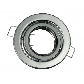 INC-REFLEX-SM1 CR - Anneau rond en aluminium chromé pour spot encastré