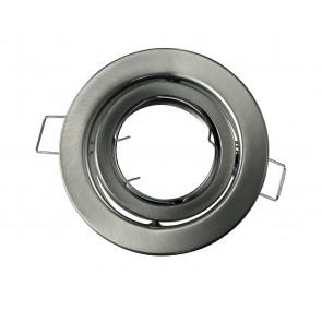 INC-REFLEX-SM1 NIK - Ghiera Tonda Orientabile Alluminio Nikel per Faretto a Incasso
