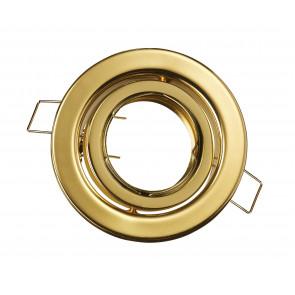 INC-REFLEX-SM1 ORO - Ghiera Tonda Orientabile Alluminio Oro per Faretto a Incasso