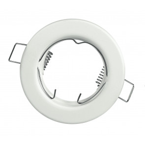INC-REFLEX-SF1 BCO - Ghiera Tonda Fissa Alluminio Bianco per Faretto a Incasso