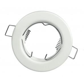 INC-REFLEX-SF1 BCO - Anneau fixe rond en aluminium blanc pour spot encastré