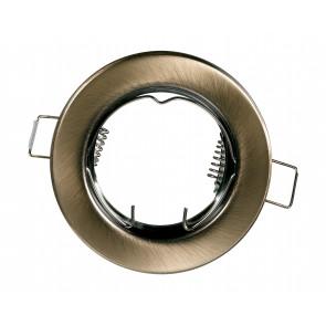 INC-REFLEX-SF1 BR - Anneau fixe rond en aluminium bronze pour spot encastré
