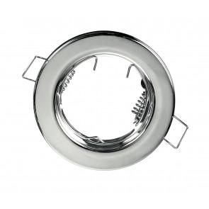 INC-REFLEX-SF1 CR - Ghiera Tonda Fissa Alluminio Cromato per Faretto a Incasso