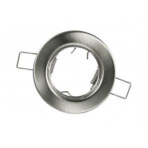 INC-REFLEX-SF1 NIK - Ghiera Tonda Fissa Alluminio Nikel per Faretto a Incasso