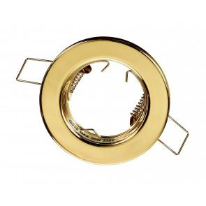 INC-REFLEX-SF1 ORO - Ghiera Tonda Fissa Alluminio Oro per Faretto a Incasso