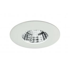 INC-NADIR-R6C - Incasso Cartongesso Faretto Quadrato Bianco Alluminio Pressofuso Led 6 watt Luce Calda