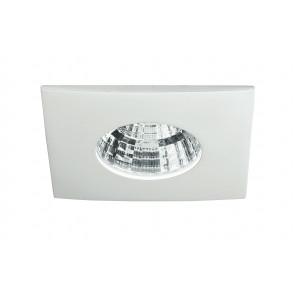 INC-NADIR-Q6C - Faretto a Incasso Quadrato Alluminio Pressofuso Bianco Goffrato Led 6 watt Luce Calda