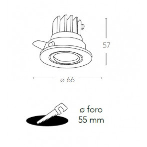 Faretto Incasso Alluminio Bianco...