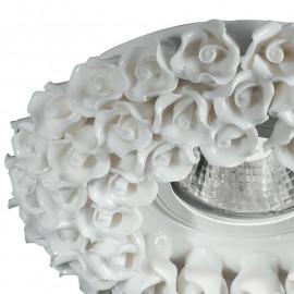Struttura in Porcellana Bianco con Decoro a Rose Linea Florenza