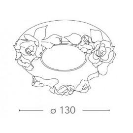 Faretto a Incasso Zarah Tondo 13 cm in Porcellana con Decoro Manuale a Rose Dorate FanEurope