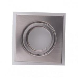 INC-REFLEX-Q-SM1 NIK - Ghiera Quadrata Orientabile Alluminio Nikel per Faretto a Incasso