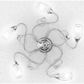 I-ELY / PL5 - Plafonniers diffuseurs en chrome Décorations en verre K9 Crystals Elegant Lamp Interior E14