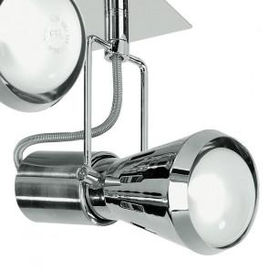SPOT-CADILLAC-PL4 - Plafoniera squadrata a quattro luci dal colore cromato 40 watt E14
