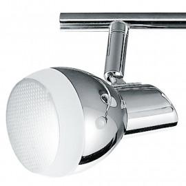 SPOT-CAYENNE-2 - Plafonnier chromé avec deux lumières LED de forme simple 10 watts 4000 kelvin