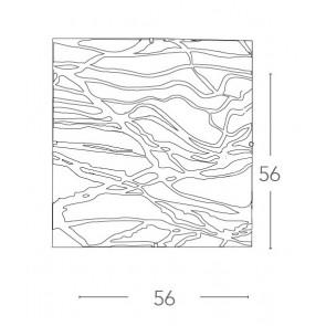 Plafonnier carré moderne en verre...