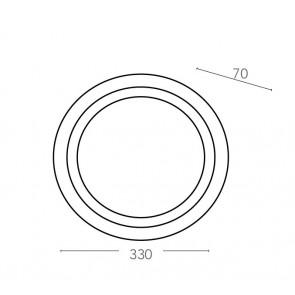 I-RAIN-PL33 - Plafoniera diffusore Pc...