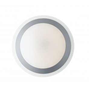 I-RAIN-PL33 - Plafonnier diffuseur Pc Ring Silver Led lampe de salle de bain 12 watts Natural Light