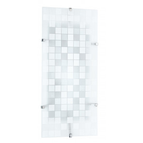 I-KAPPA-LD/M FLASH - Plafoniera Rettangolare Vetro decoro Mosaico Lampada Led 28 watt Luce Naturale