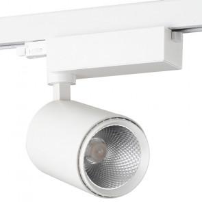 LED-EAGLE-W-30WM - Faretto per binario led di colore bianco dalla forma semplice 30 watt 4000 kelvin