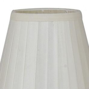 Abat-jour en tissu blanc 14x31 cm