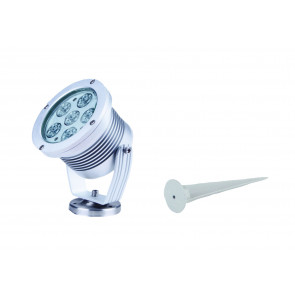 LED-IRIDE-18P-BCO Proiettore Cromo Led  6000kelvin 18 watt