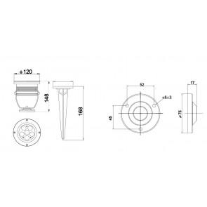 LED-IRIDE-18P-BCO Proiettore Cromo...