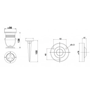 Proiettore Cromo Led  6000kelvin 9 watt